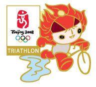 Beijing 2008 Olympics Huanhuan Triathlon Pin