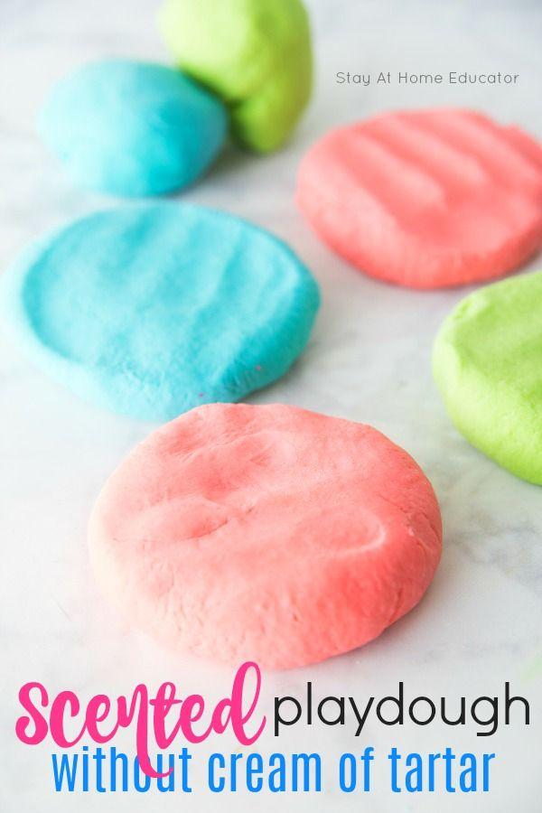 Scented No Cook Playdough Recipe Without Cream Of Tartar Recipe Cooked Playdough Playdough Recipe Scented Play Dough
