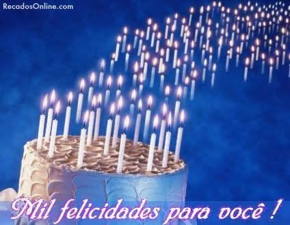 bolo de feliz aniversario | Feliz Aniversario Bolo Recados Para Orkut - Feliz…