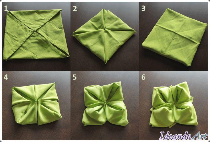Tutorial para flor de servilleta DIY by IdeandoArt