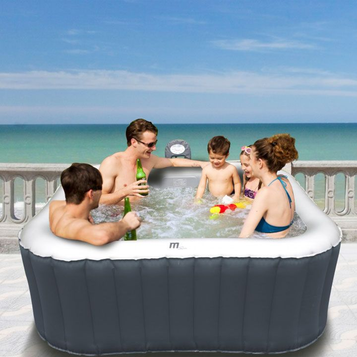 MSpa Alpine B-090 Inflatable Hot Tub 132 Massaging Air Jets Spa ...