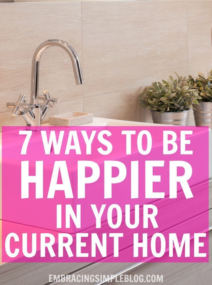 Just because you aren't living in your dream home doesn't mean you can't absolutely love where you live! Click to read 7 ways to be happier in your current home :)