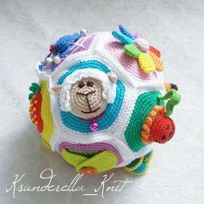 Купить Занимательный Мячик для развития мелкой моторики - развивающая игрушка, мячик, шарик, для малышей
