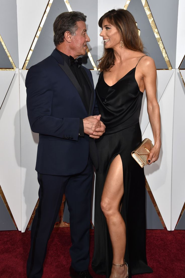 Oscars 2016: Best Dressed Couples - Sylvester Stallone and Jennifer Flavin-Wmag