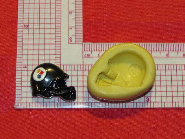 NFL Football Pittsburgh Steelers Helmet Silicone Push Mold 410 Chocolate Candy wax Cake Decorating by LobsterTailMolds on Etsy