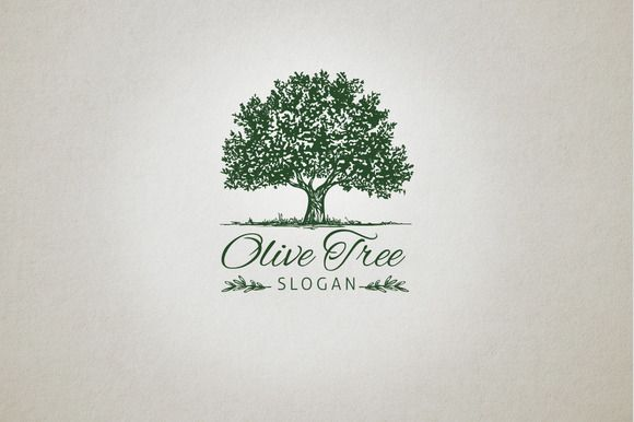 Olive Tree Logo by vraione on @creativemarket