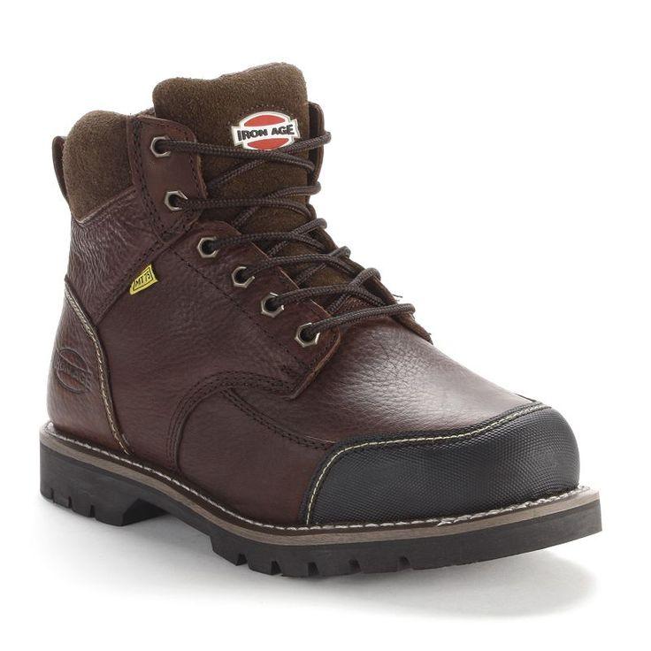 Iron Age Men's Met Guard Steel Toe Work Boots, Size: medium (10.5), Brown