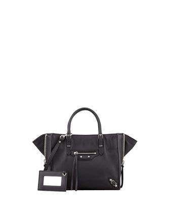 Papier A4 Mini Leather Tote Bag, Black by Balenciaga at Neiman Marcus.