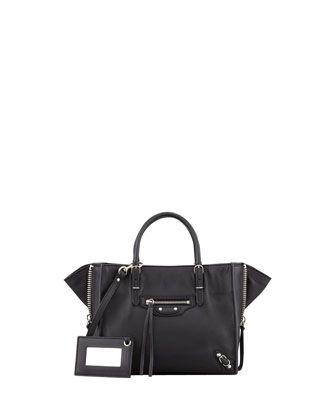 Papier A4 Mini Leather Tote Bag, Black by Balenciaga at Neiman Marcus.