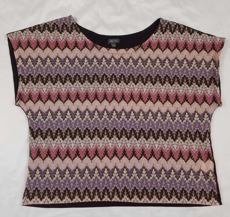 Lily Rose chevron top womens size Xl brown purple pink and white colored | Clothing, Shoes & Accessories, Women's Clothing, Tops & Blouses | eBay!