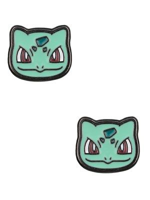 Upgrade your ear accessories with these fun and very cute earrings. The design features the face of character Bulbasaur, making them a great gift for any fan of the Japanese craze, Pokémon. Official merchandise