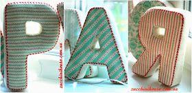 Как сшить мягкие буквы, мастер-класс / How to sew fabric letters, tutorial   Домик маленького Цукиня