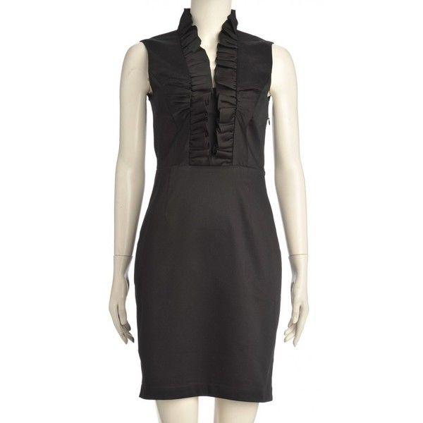 Ted Baker Betsi Dress, Ruffle Neckline Black Dress (160 AUD) found on Polyvore