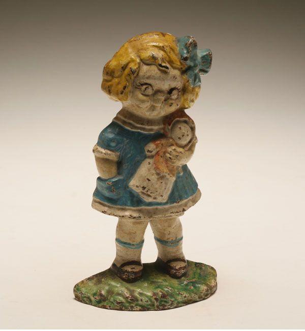vintage hubley cast iron little girl door stop LOVE HER! - 201 Best ~Door Stops~ Images On Pinterest Cast Iron, Dog