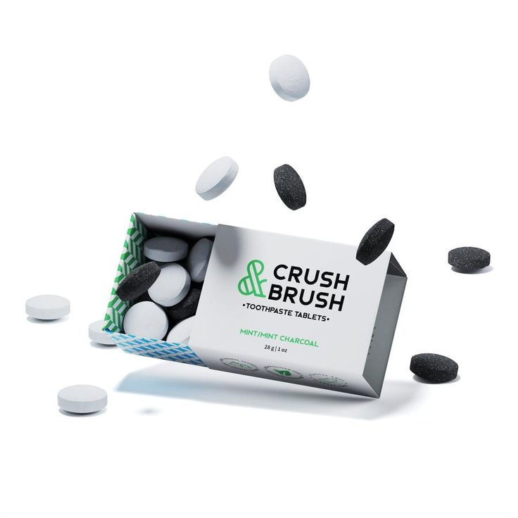 Crush and Brush Toothpaste Tablets Mix Box 1 ounce NOW