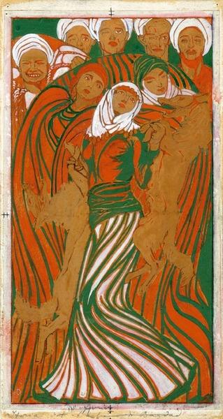 Duilio Cambellotti Arabian Nights - Temperas on paper (1912-1913)