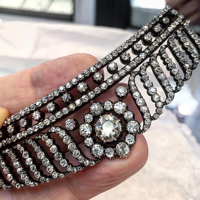 Antique Art Deco diamond tiara