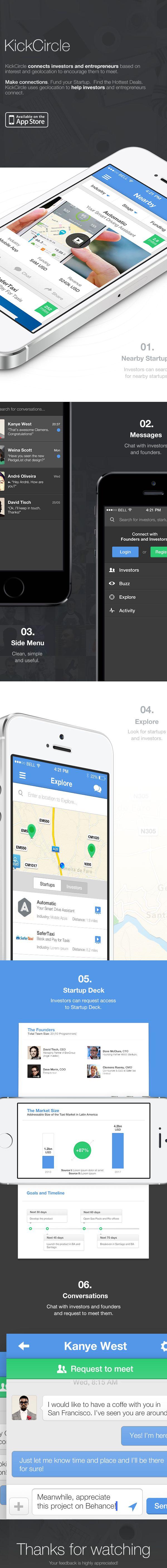 KickCircle iOS App by André Oliveira and Hélder Leal, via Behance