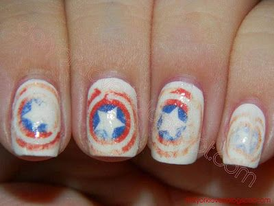 datyorkLOVES: Day 23- Inspired by a Movie Nails- The Avengers Captain America