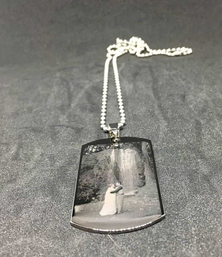 Personalized photo engraved pendants by WalkerImpressions on Etsy https://www.etsy.com/ca/listing/541094522/personalized-photo-engraved-pendants
