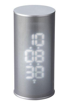 電波メッシュLEDクロックバーティカル/シンプル&クールな置き時計|インテリアハート