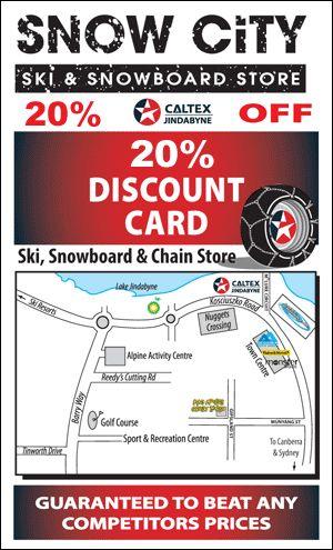 Snow City Ski, Snowboard & Chain hire, Jindabyne - Discount Card