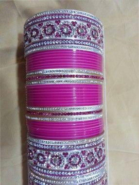 Pink #Bridal Chura !!