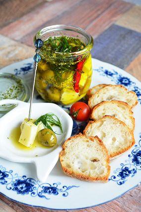 ★ ハーブ&スパイス漬け チーズ&オリーブ 作り置き常備おつまみ|レシピブログ