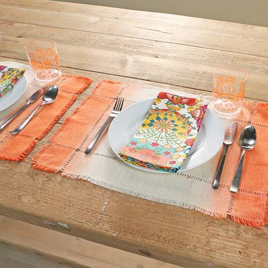 Dip, dye, and dry your way to standout place mats that you can use all season long.