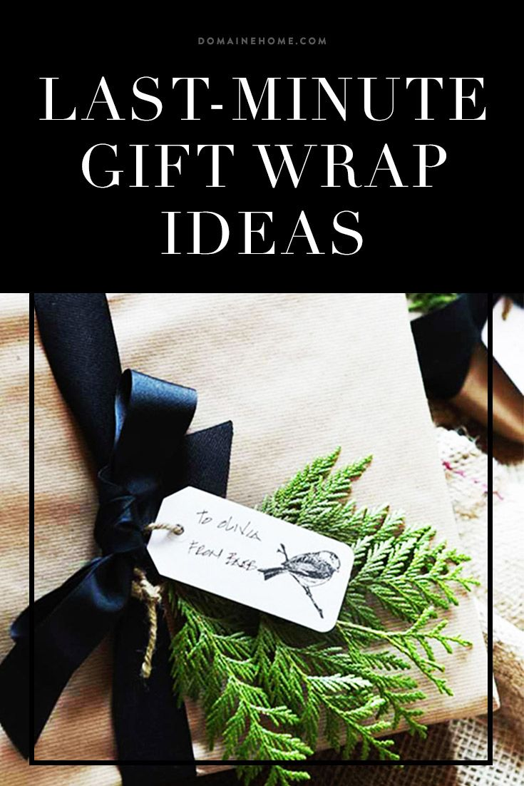 Last minute wrapping ideas