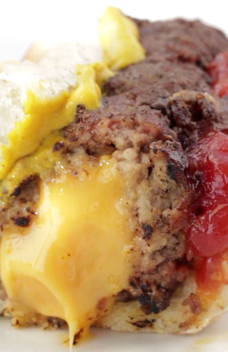 How To Make The Ultimate Cheese-Stuffed Burger Dog