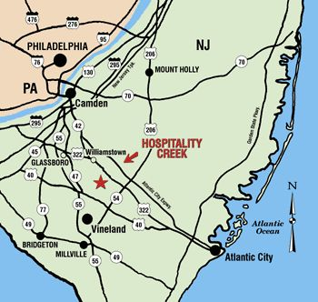 Hospitality Creek campground in nj