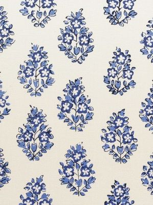Hill Brown by Clarence House DecoratorsBest - Detail1 - CL HB402-2 - Oui - Cobalt - Fabrics - DecoratorsBest