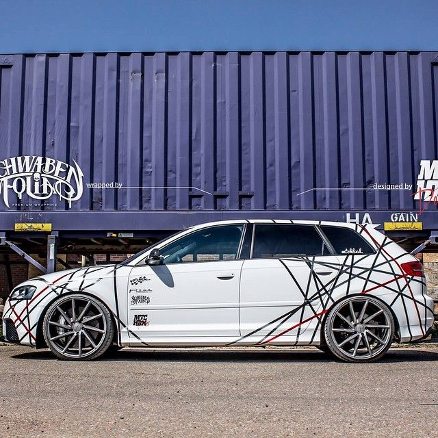 Audi RS3 line up  Wrapped by @schwabenfolia.de  Designed by @mtchbxdesigns…
