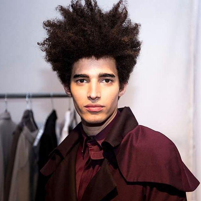 Afro curls. Mens hair. @luis_borges_model