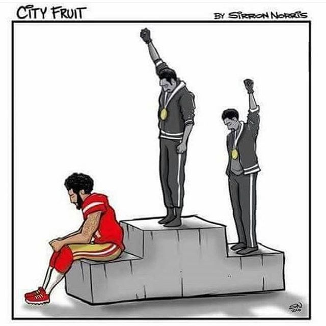 Image result for kaepernick cartoon