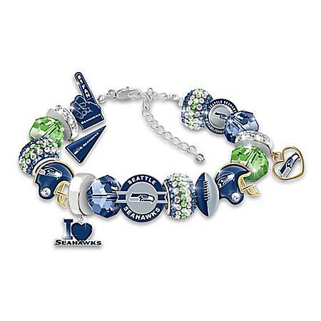 Fashionable Fan Seattle Seahawks NFL Charm Bracelet