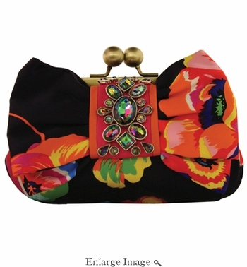 Mary Frances Aria-Jeweled Bow Clutch