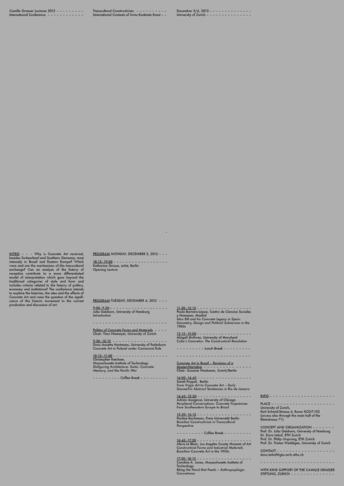 """The """"Swiss Poster"""" pictured is a sharp example of universal appeal in its logical and wholly unemotional approach to the display of information. The text is confined to four columns and there exists a subtle hierarchy with the copy going in a downward diagonal direction from left to right in order to guide the eye."""