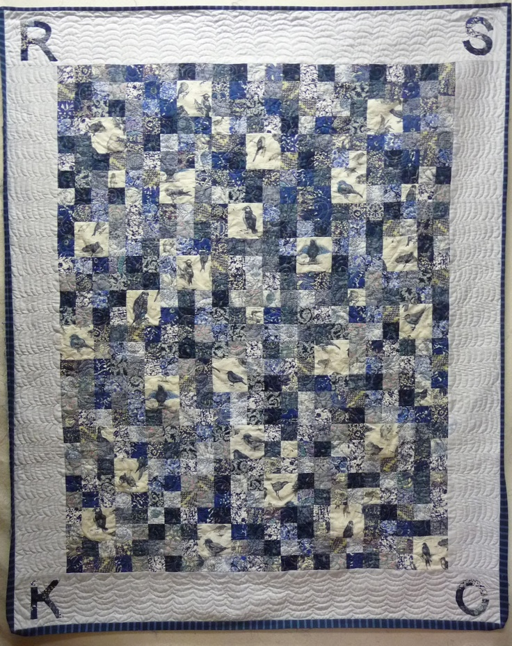 initialed boy's quilt