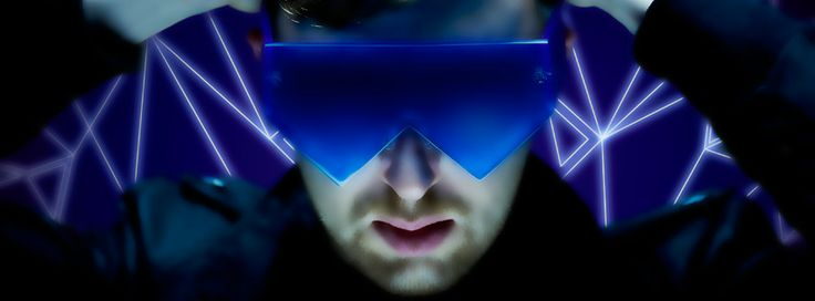 Dj and music producer Ray Foxx's visors were designed and produced in the London studios of General Eyewear.