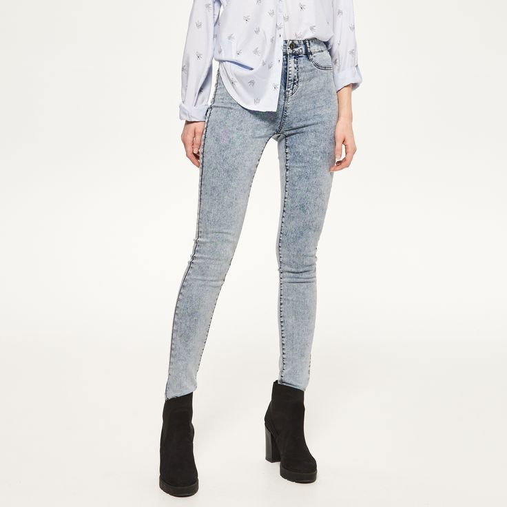 Jeansy HIGH WAISTED, RESERVED, PW758-50J