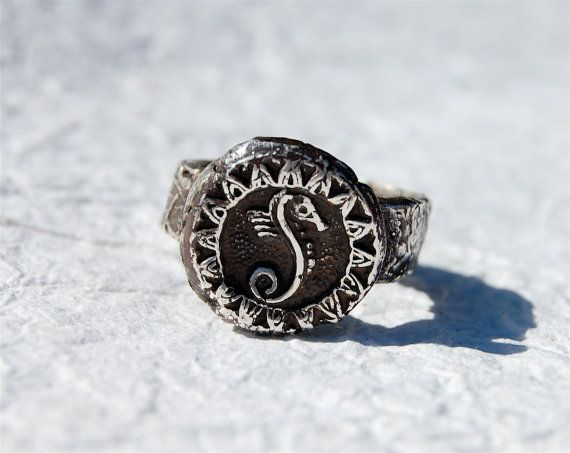 Ring Silver Seahorse Primitive Antiquity Relic by codysanantonio, $65.00Silver Seahorses, Seahores Primitives, Silver Seahores, Seahorses Primitives, Rings Silver, Primitives Antiques