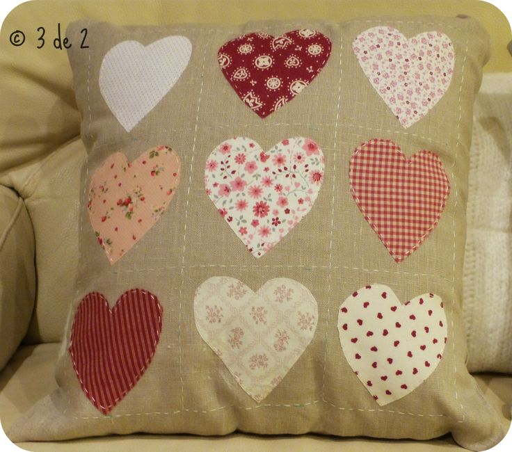 """Iron-On Valentine Pillow Blessings~ """"Hattie The Old Fashion Vintage Farmer's Daughter"""" ~ Iron-On Hearts Applique w/fusible webbing...."""