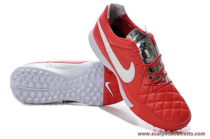 Rosso/Bianco TF Nike Tiempo Legacy scarpe da calcio online
