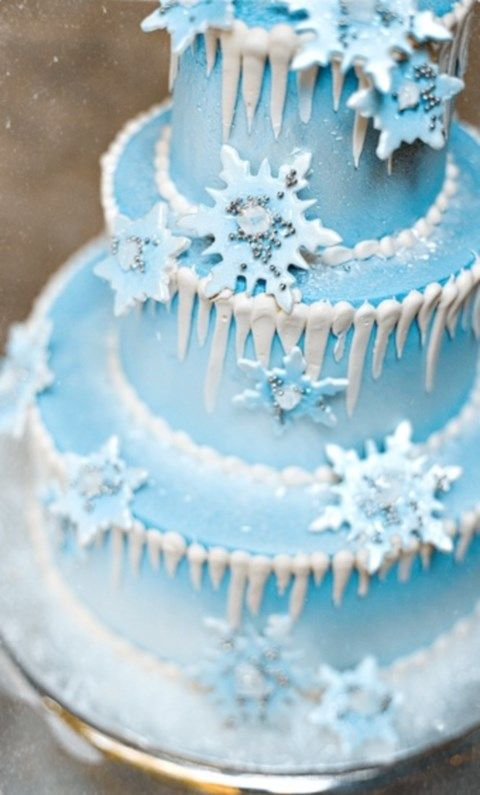 17 Best Ideas About Snowflake Cake On Pinterest