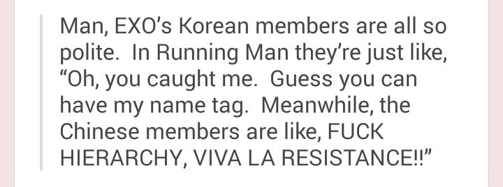 Well actually they are not polite, LKS and KJK and SJH will fight to either rip the name tag of or to protect their name tag. They bite or hit each other. Real savages . RM