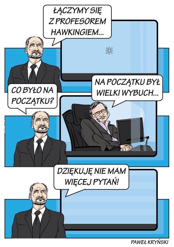 Macierewicz konsultuje się z Hawkingiem #Macierewicz #Hawking #wielki #wybuch