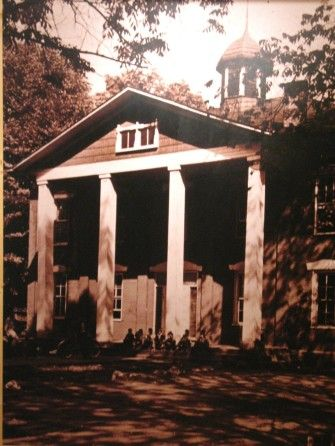 Watauga Academy, a school in old Butler (old Butler is at the bottom of a lake courtesy of the TVA (Tennessee Valley Authority) building the Watauga Dam) | PHOTO: Butler Museum | Tennessee History for Kids