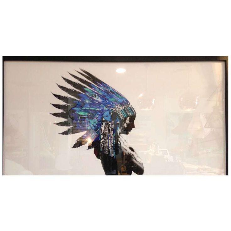 Vavoom Emporium - Framed Print - Blue Native, $729.00 (http://www.vavoom.com.au/framed-print-blue-native/)